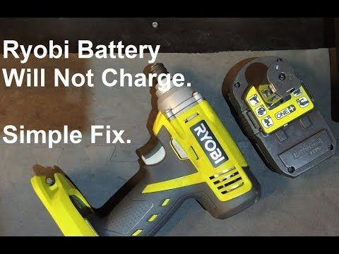 Ryobi Battery Not Charging Repair A Ryobi Lithium Batteries To Charge Again Youtube Ryobi Battery Ryobi Lithium Battery