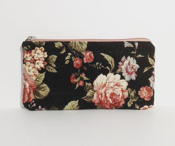 zip pouch pencil case phone case cosmetic pouch by KatunKatunBags