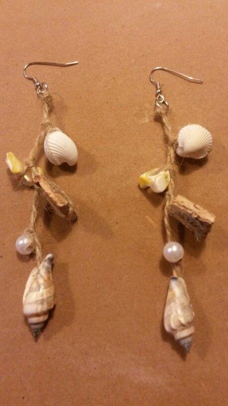 Zelfgemaakte schelpen oorbellen