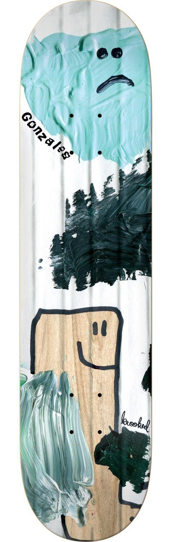 Krooked Skateboards Mark Gonzales Ribbed Skateboard Deck