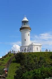 Byron Bay lighthouse Australia. Most easterly point of Ausralia and my best destination so far. Walk up to lighthouse amazing......saw dolphins, whales, sea eagle, ocidna, and views to die for. Lunch down in main beach then surfing in Tallows beach, Wow.