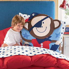 Give your child's room a wild side with these adorable Pirate Monkey Pillow Shams!