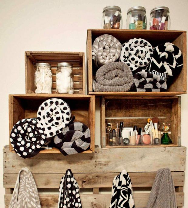 DIY bathroom storage #decor #banheiros #bathrooms