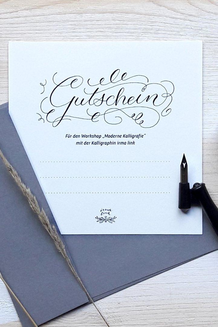 Zeit Schenken Kreativer Workshop Gutschein Gutschein Schriftzug Stifte Zum Zeichnen Gutschein Gestalten