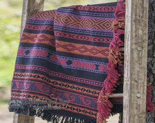 Southwestern Throw Blanket -Zapoteca Red (st44)