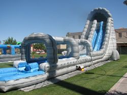 rock looking blow up water slides - Google Search
