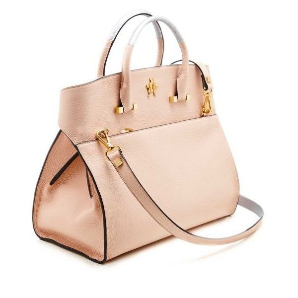 Giancarlo Petriglia Blue Eyes pink leather tote | Cardinalno.com ($1,685) ❤ liked on Polyvore featuring bags, handbags, tote bags, blue leather handbags, pink tote bags, leather tote bags, leather tote handbags and pink leather purse