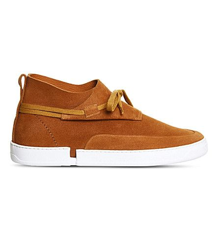 CASBIA William Mid-Top Suede Sneakers. #casbia #shoes #sneakers