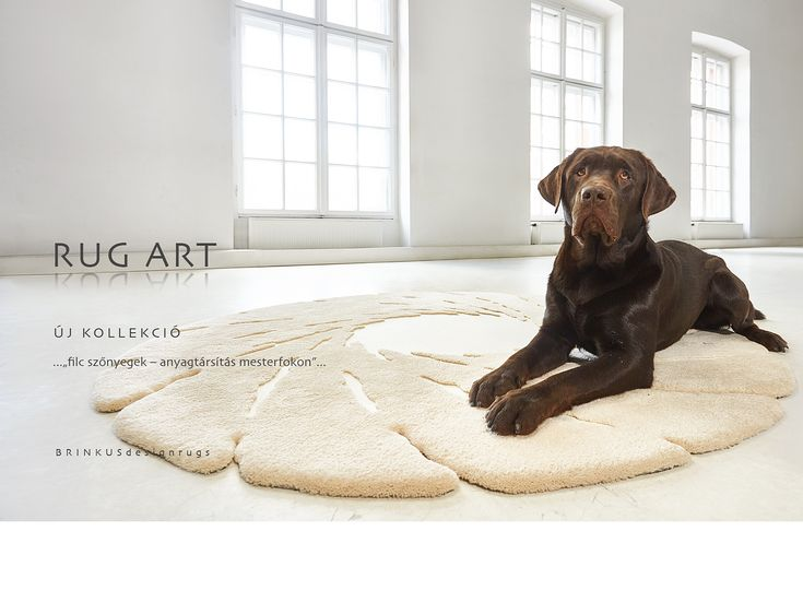 """Vortex""-felt and tufted rug"