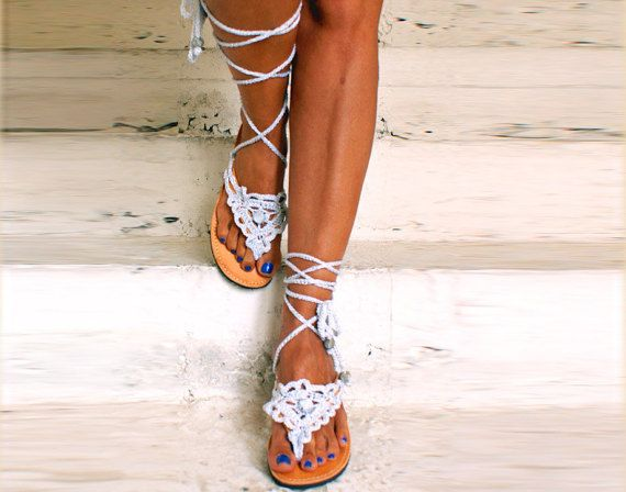 Leather sandals/ Gladiator Sandals/ Boho Sandals/ by magosisters