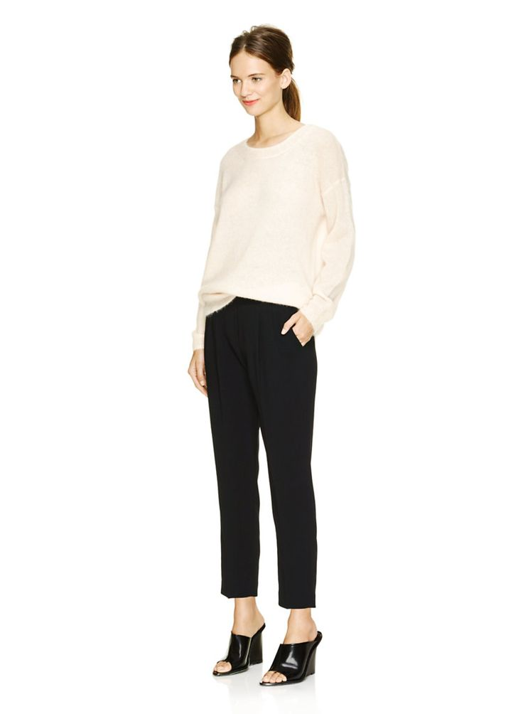 BABATON COHEN PANT - A simplified and modern shape, tailored in Japanese satin back crepe - size 6 in navy marine