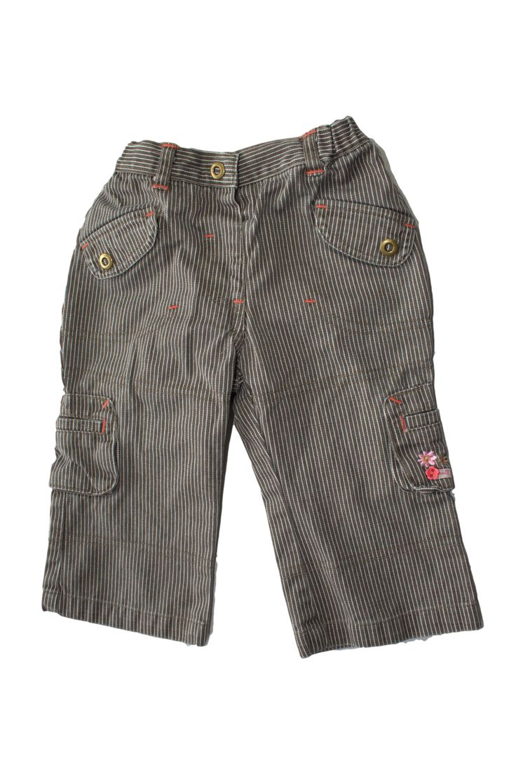 Meisjes jeans/broek bruin met witte strepen Prenatal Mt: 68