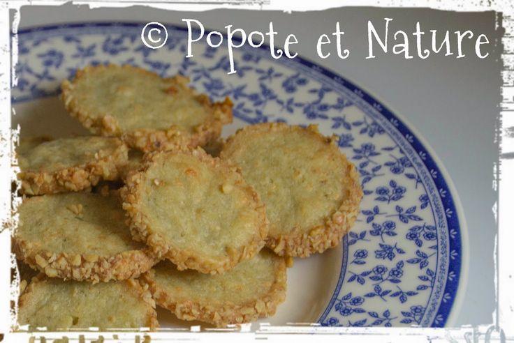 © Popote et Nature -Sablés apéro Fourme d'Ambert et noix