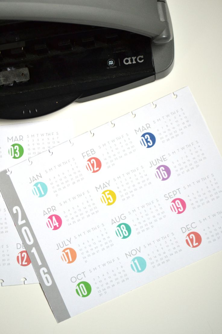 2015 & 2016 'Year at a Glance' Free Printables for Create 365™ The Happy Planner™ | me & my BIG ideas