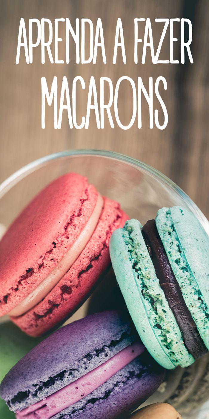 Receita de Macarons Aprenda a fazer o famoso docinho francês! Essa receita é simples e muito fácil de fazer em casa. + de 10 porções Preço vendido no mercado: de R$ 1,50 a R$ 2 (a unidade recheada)