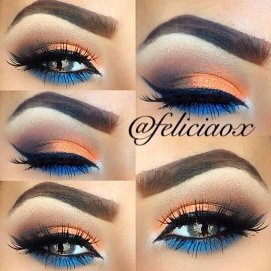 ✴✴ Blue & orange w/ a hint of blackish-brown