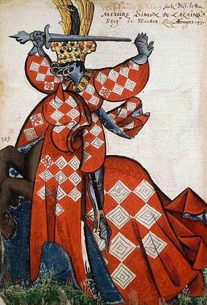 Simon de Lalaing, Grand Armorial équestre de la Toison d'Or, Flandres, 1430-1461.