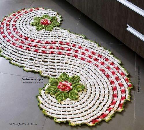 Crocheted Christmas Table Runner | AllFreeChristmasCrafts.com More