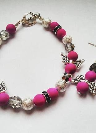 Kupuj mé předměty na #vinted http://www.vinted.cz/doplnky/sety/10507288-fialkovy-set-s-americkym-zapinanim-naramek-z-koralku-a-nausnice
