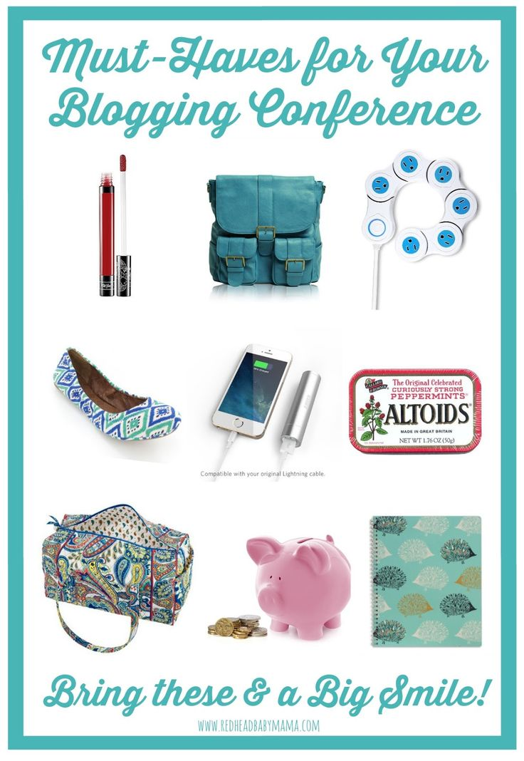 Redhead Baby Mama | Atlanta Mom Blogger: What to Bring to a Blogging Conference... For Newbies #typeacon