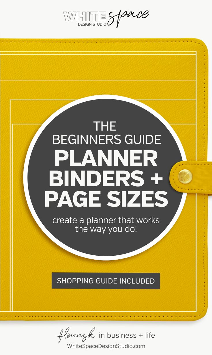 THE BEGINNERS GUIDE TO PLANNER BINDERS AND PAGE SIZES - WhiteSpace Design Studio | The Beginners Guide to Planner Binders and Page Sizes >>> and create a planner that works the way you do … It's the secret to increase your productivity + have peace of mind! | whitespacedesignstudio.com #flourishwithwhitespace #plannerprintables #fuselifeplanner #planning #productivity #plannerkit