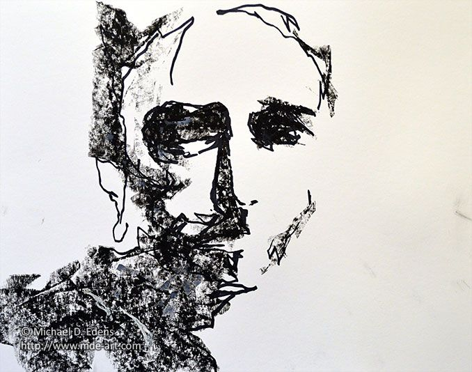 charcoal abstract art