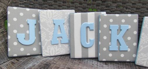 8x10 upholstered letter plaque nursery name by spellitwithstyle