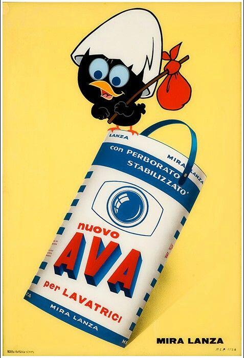 Vintage Italian Posters ~ Calimero, Ava.  1965