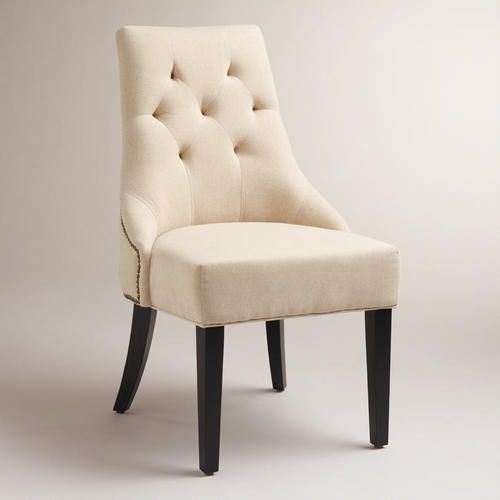 One of my favorite discoveries at WorldMarket.com: Linen Lydia Dining Chairs, Set of 2