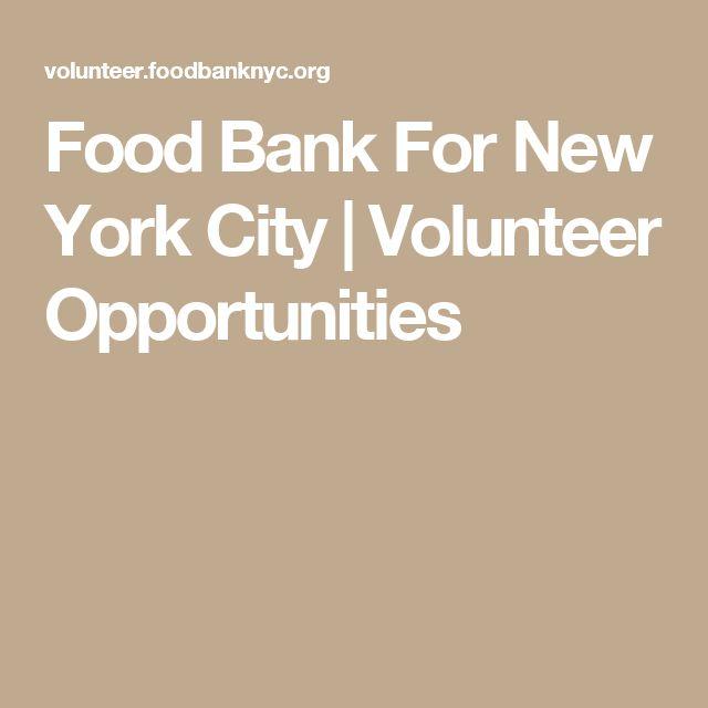 Food Bank For New York City | Volunteer Opportunities