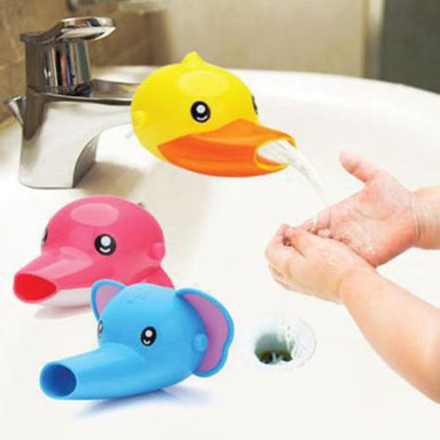 Extensor Torneira FHEAL 1 pc Encantador Dos Desenhos Animados Para Crianças Miúdo Miúdo Lavar as Mãos na Pia Do Banheiro Acessórios