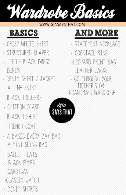 I do like nice, simple lists of wardrobe basics--so here is yet another version ad infinitum--but my question is: what if you are the mother or grandmother? Are you not to have basics to wear?