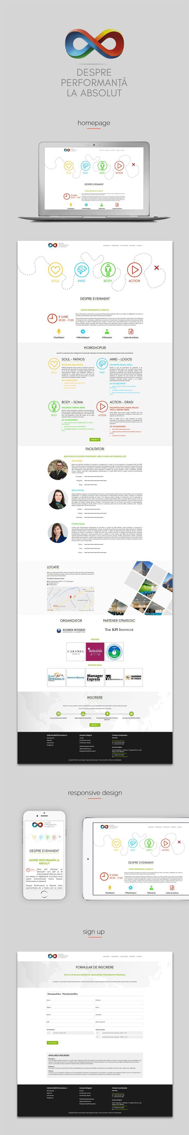 Despre Performanta la Absolut, webdesign with responsive design.