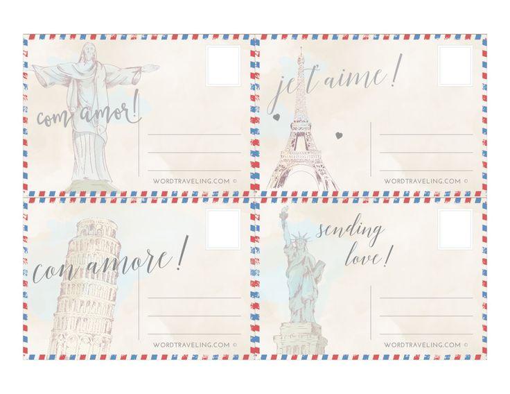 20+ beste ideeën over Printable postcards op Pinterest - free postcard template download