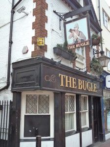 The 'Bugle' pub in Reading, Berkshire.