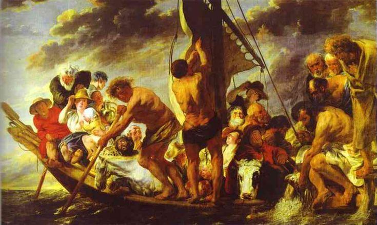 Jacob Jordaens, Ferry Boat to Antwerp, 1623