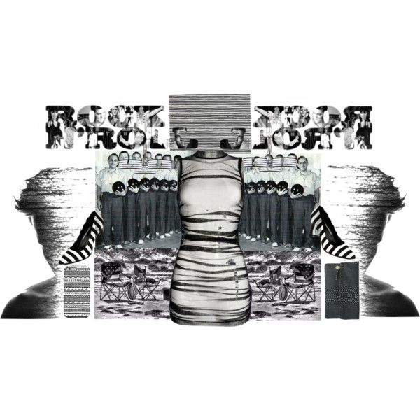 fine lines fashion meets art by diaparsons on Polyvore featuring Dolce&Gabbana, A.N.A, Clare V., Marimekko and Giclee Gallery