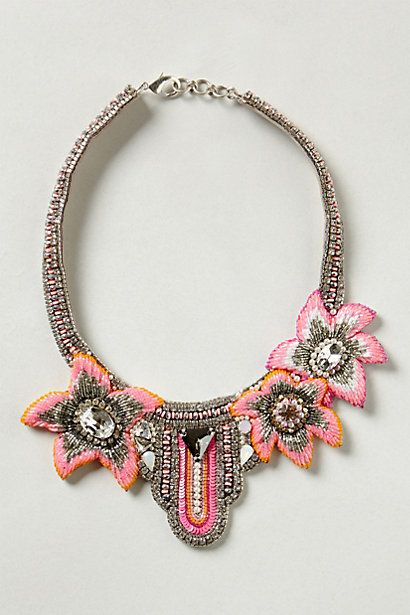 Ibiza Beaded Bib #anthropologie