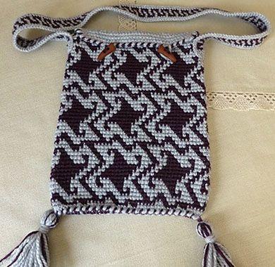 Tapestry Crochet Drawstring Bag Pattern : 10 best images about Tapestry Crochet on Pinterest ...