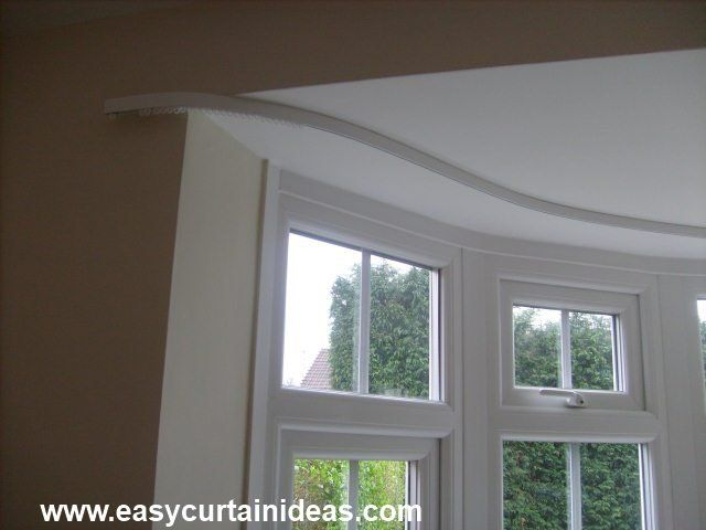 Curved Curtain Rods Window Treatments Pinterest Bay And Interior French Doors
