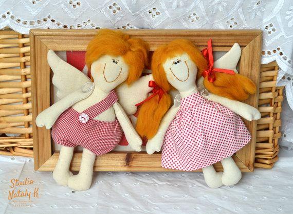 3D picture frame angel dolls wedding gift Love by StudioNatalyK