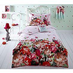 Baker by Ted Baker - Kids' multicoloured 'Emily Rose' duvet cover and pillow case set