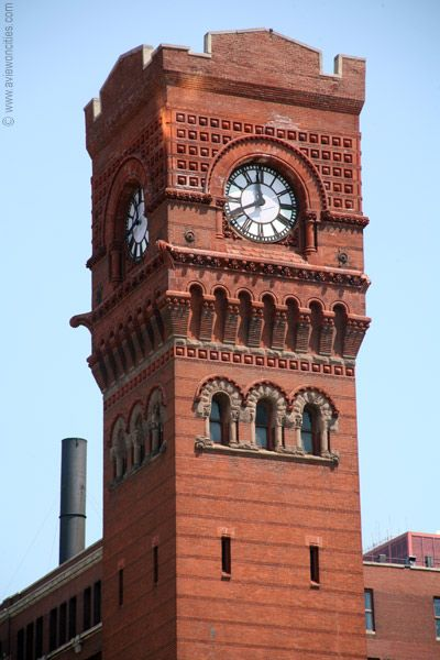 The dearborn station clock tower is a very famous landmark for 3 famous landmarks