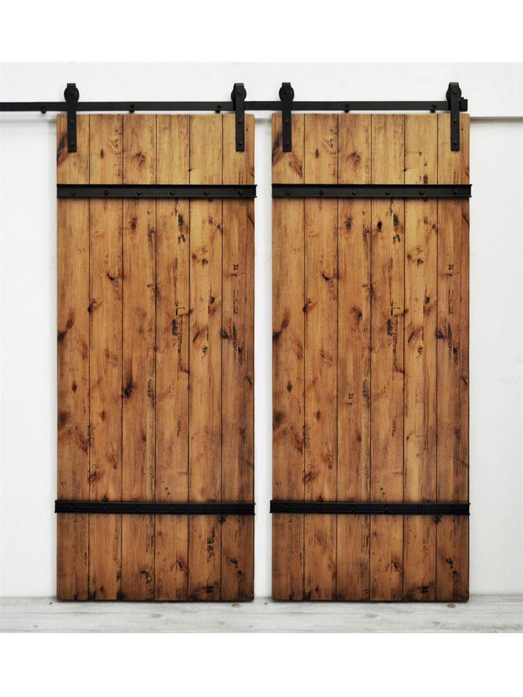 Drawbridge handmade double barn doors metals rustic and for Small double barn doors
