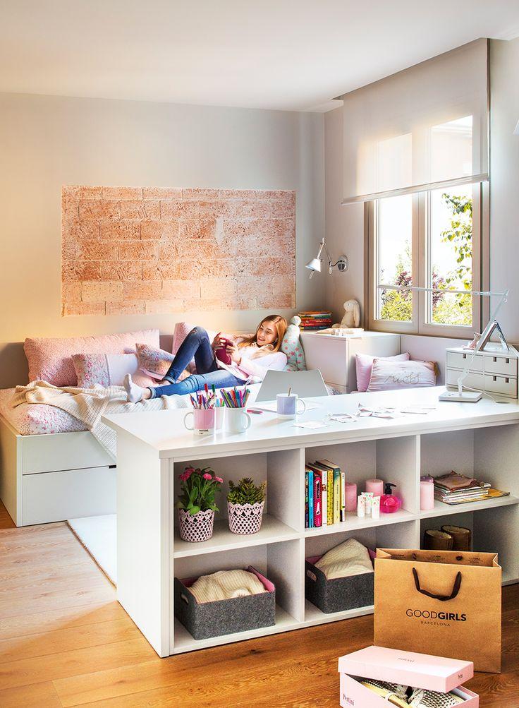 M s de 1000 ideas sobre mesas de estudio en pinterest - Estanterias para dormitorios ...
