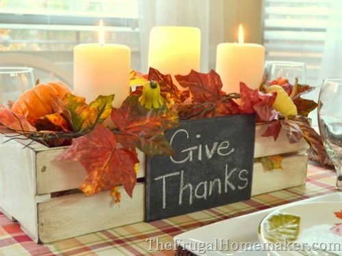 DIY Thanksgiving Centerpieces - Easy Thanksgiving Centerpieces - Good Housekeeping