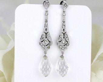Art Deco orecchini orecchini lampadario Vintage Orecchini