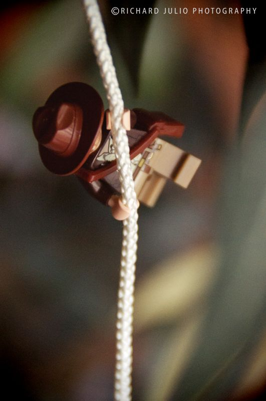 Lego Indy - Lego macro photography series by Richard Julio Photography