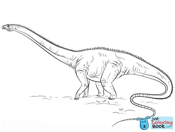 Diplodocus Dino Coloring Page Dinosaur Coloring Pages Cute