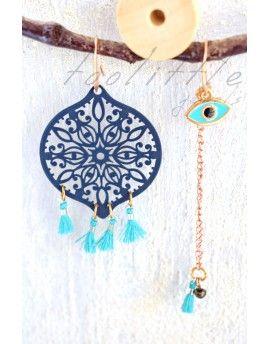 Σκουλαρίκια Circle Tassels & Eye